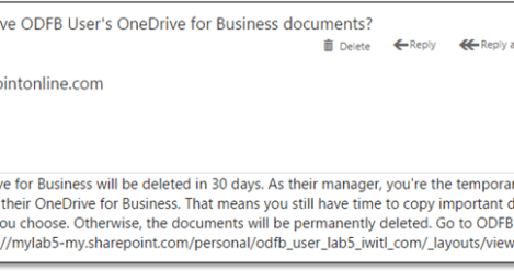 Office 365 - How to Handle Departed Users (Part 2 of 2