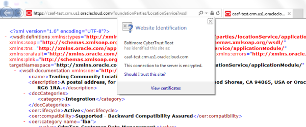 View Certificates using IE