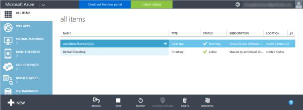 Azure Classic Portal
