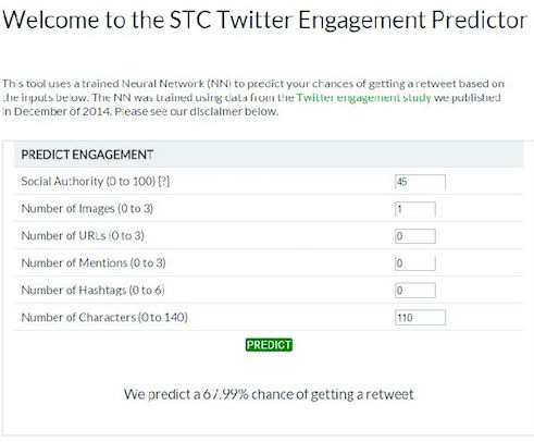 Twitter engagement predictor