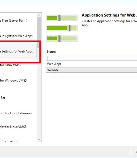 Azure ARM Template: Define Web App Application Settings - Perficient