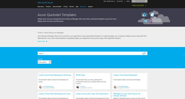 AzureQuickstartTemplatesSiteScreenshot