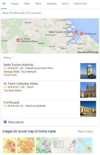 Tourist Map For Mdina Malta
