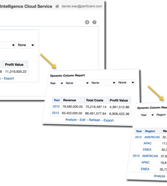 A Best Practice for Creating Dynamic Column Reports in BICS
