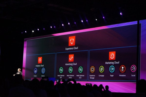 Adobe's Brad Rencher introduced Adobe Experience Cloud during summit.