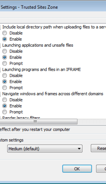 Access Denied Ie11 Iframe