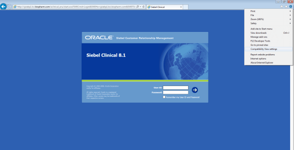 How To Configure Internet Explorer (IE) 11 To Work For Siebel 8.1