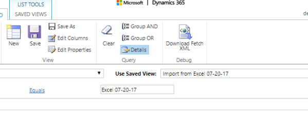 Moving from Excel Spreadsheets to Dynamics 365
