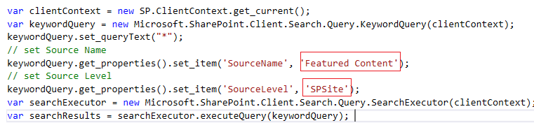 How to Search Using the Result Source Name with O365 Search REST API