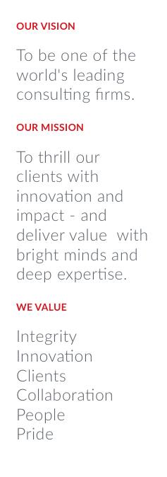 Perficient Vision, Mission, Values