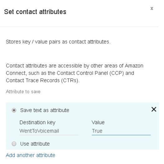 set contact attribute block