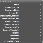 IPTC Core in Adobe Bridge
