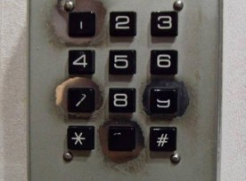 10-key pad showing wear