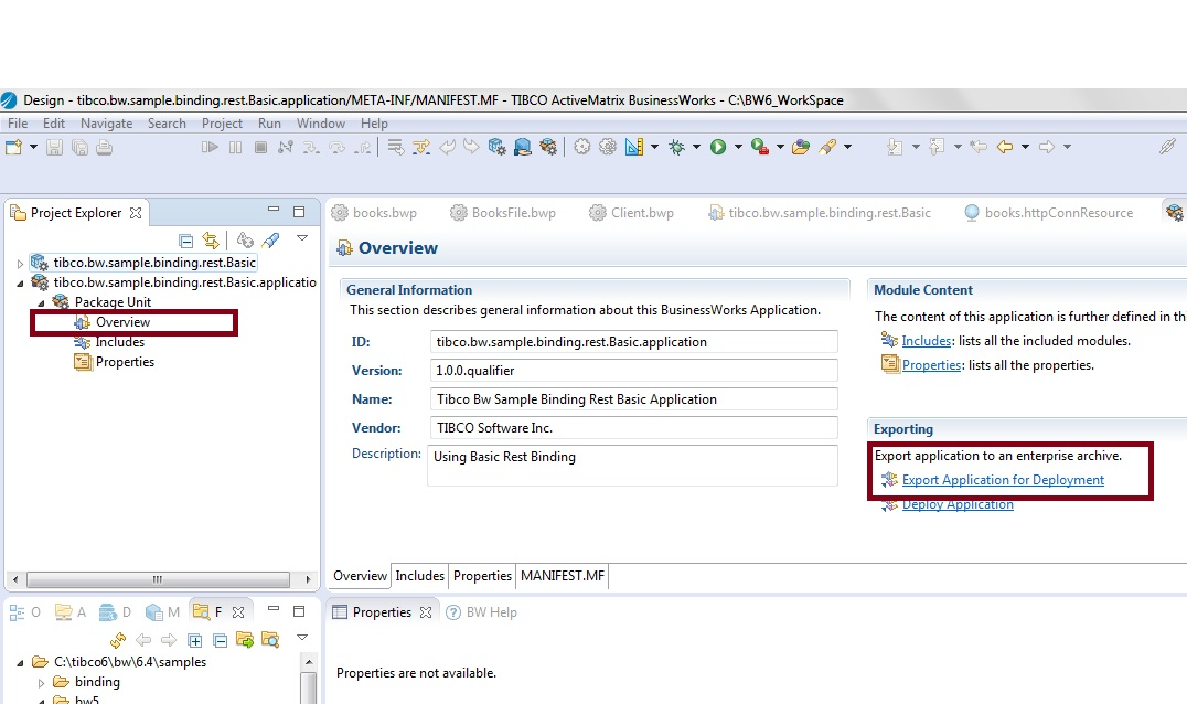 How to Deploy the EAR in TIBCO BW6