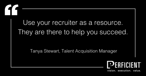 Tanya Stewart, Talent Acquisition Manager perficientTanya Stewart, Talent Acquisition Manager perficient
