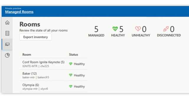 Microsoft Teams Managed Meeting Rooms