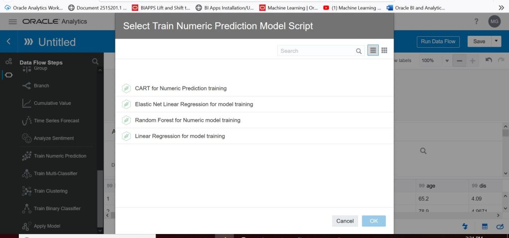 Selecting The Numer Prediction Model To Use