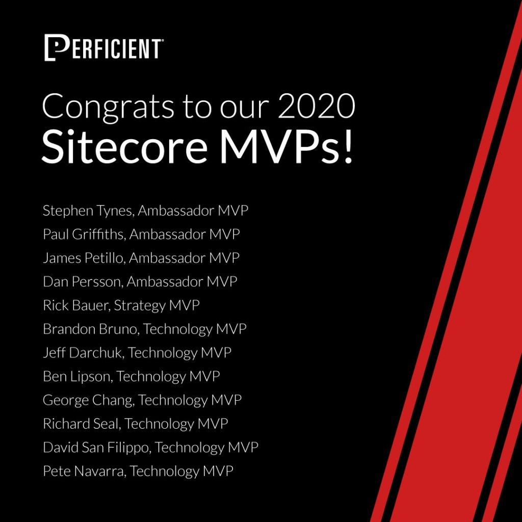 Sitecore MVPs 2020