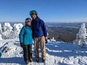 Senior Solutions Architect Christopher Fougere skiing in Vermont