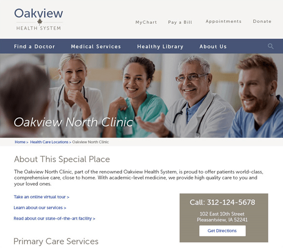 Healthcare Web Page Sample Too Many Buzzwords