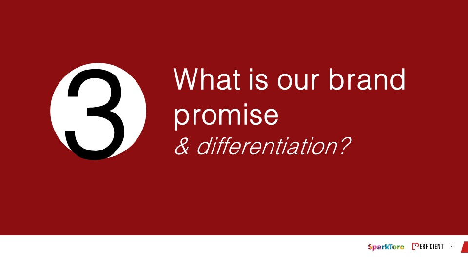 What is our brand promis and differentiation?