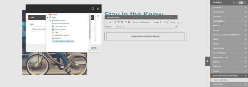 Using The Sxa Subscribe Button Component