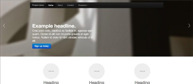 Bootstrap's desktop view