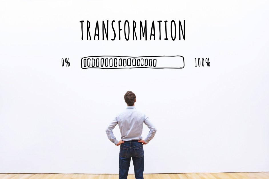 Concept d'entreprise de transformation