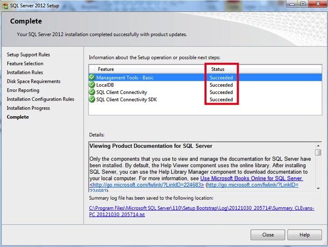 Install sql server 2012 management studio express in windows 7 ibm this will complete the sql server 2012 management studio express install on your windows 7 pc and a local sciox Choice Image