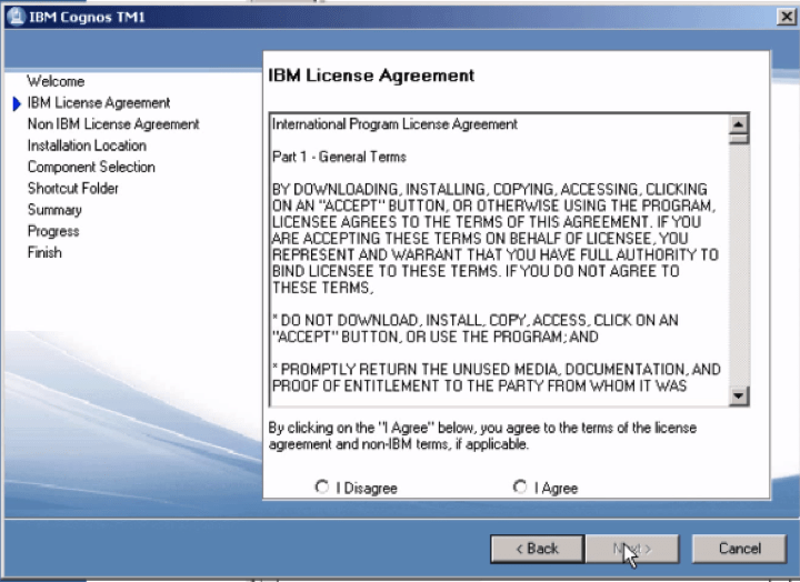 Installing cognos tm1 1011 on windows 7 is easy as 1 2 3 once you have agreed to the license agreement the install will ask you where you want to install tm1 1011 i would recommend using the default location platinumwayz