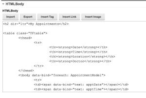 HTML Table Binding with KO
