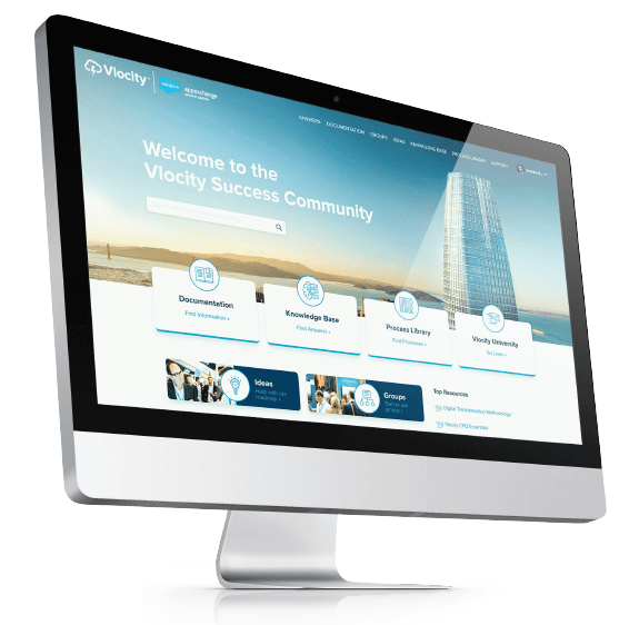 Vlocity Success Community built on Salesforce Community Cloud by Perficient
