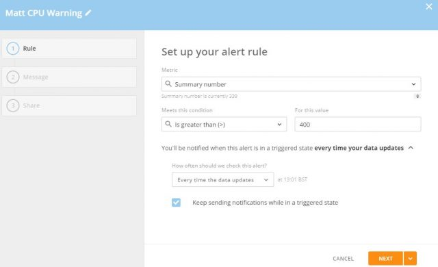 Setting Up Alert in Domo
