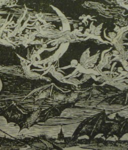 """Halloween"" detail from the frontispiece to the Blue Poetry Book by Andrew Lang (Longmans, 1891)"