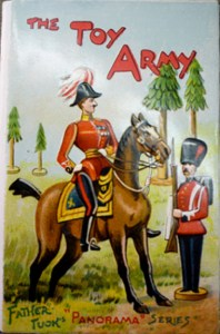 """Embossed chromolithographed upper wrapper of Tuck's """"Toy Army."""""""