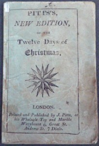 """Upper wrapper of Pitt's """"new edition"""" of the Twelve Days of Christmas (cover title)"""