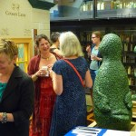 Opening conference reception, held in the Cotson Library's Bookscape gallery