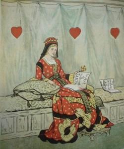 Caldecott's Queen (The Queen of Hearts. Warne & Co., ca. 1890. CTSN 13172)