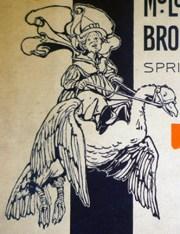 "Mother Goose on the cover of McLoughlin Bros. 1923 ""Catalogue"" (Cotsen 94157)"