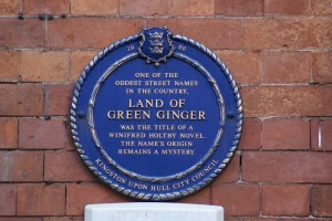 blue plaque green ginger