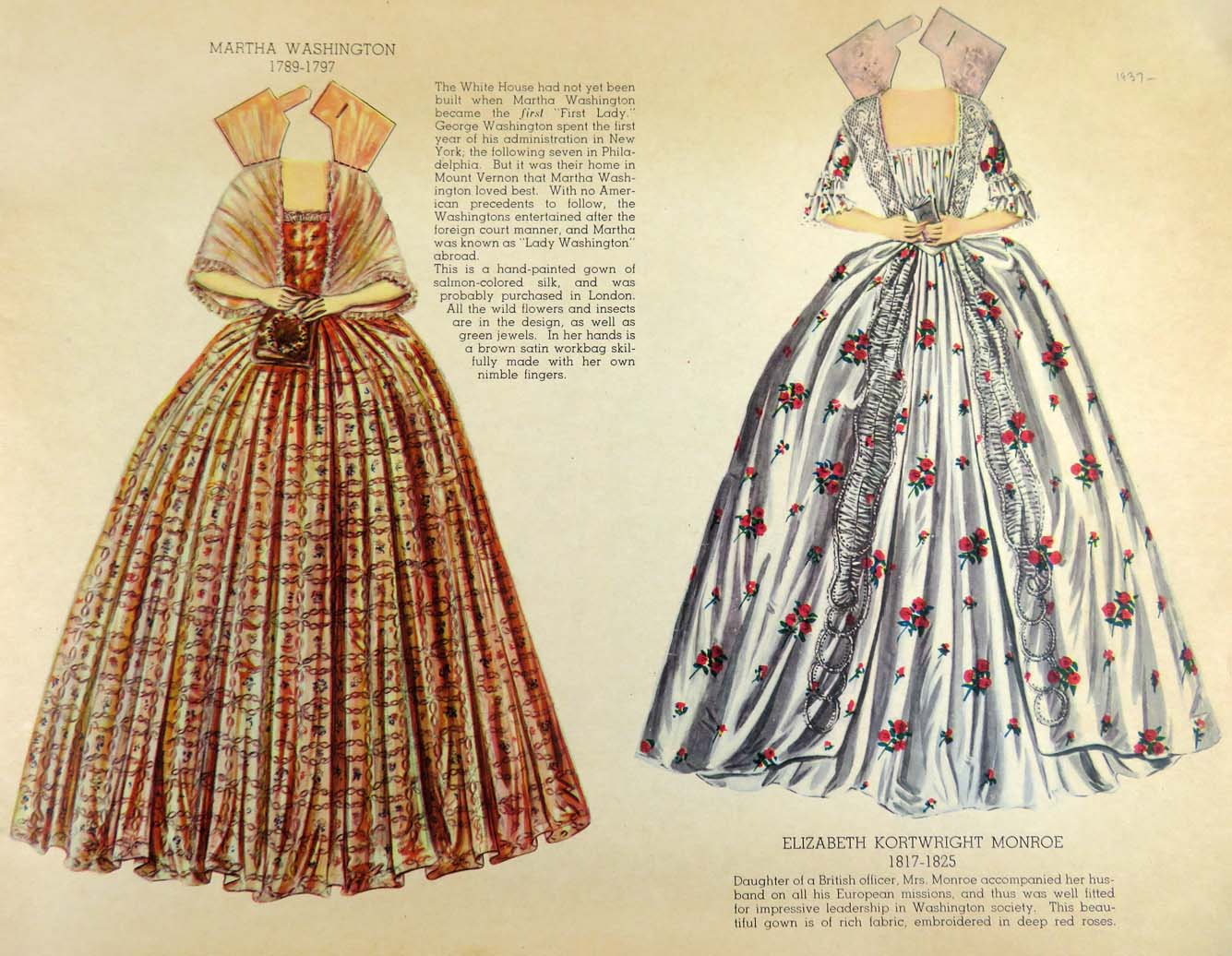 """Dresses worn by the """"First Ladies\' of the White House 