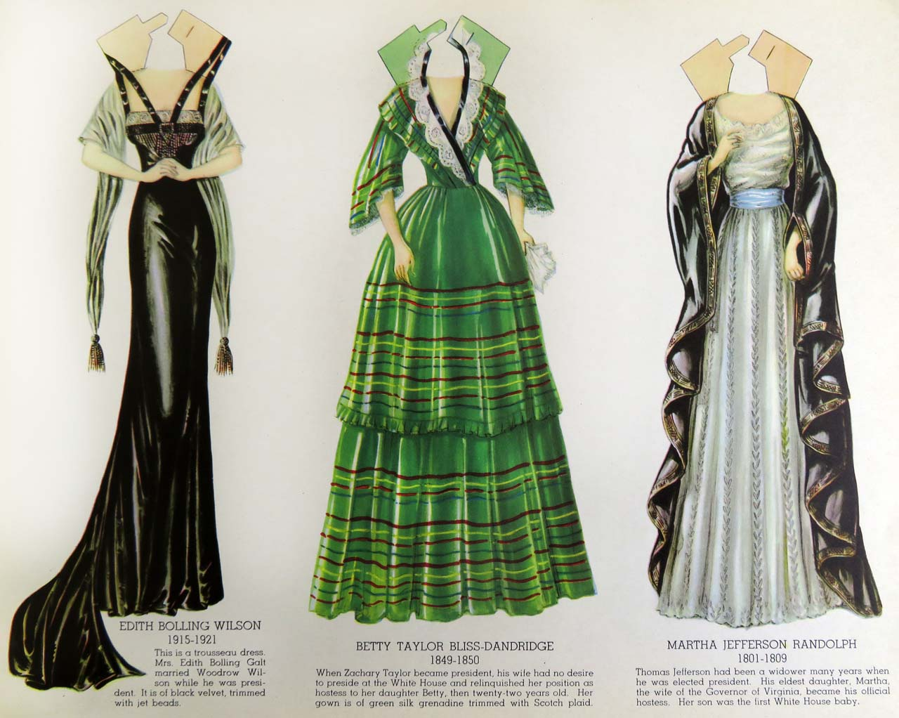 Dressing FLOTUS: A 1939 Maybelle Mercer Paper Doll Book | Cotsen ...