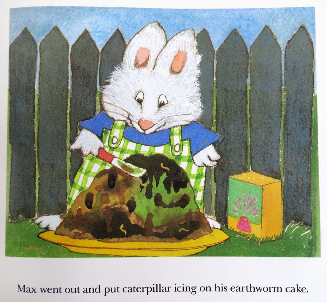From Rosemary Wells, Bunny Cakes. New York: Scholastic, 1998, c.1997  (Cotsen unprocessed).