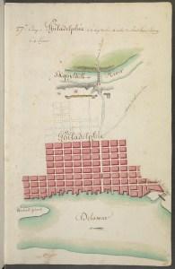 Berthier map of Philadelphia 1781