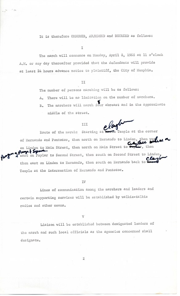 Opinion and Temporary Injunction (page 2), ACLU Records, Subgroup 2, Box 656, Folder 2