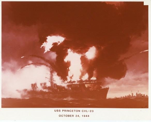 USSPrinceton Exploding