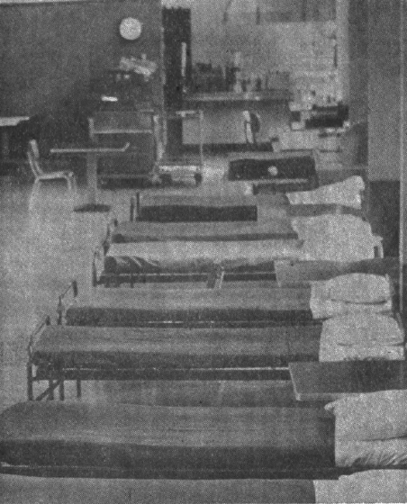 Beds in the Student Center