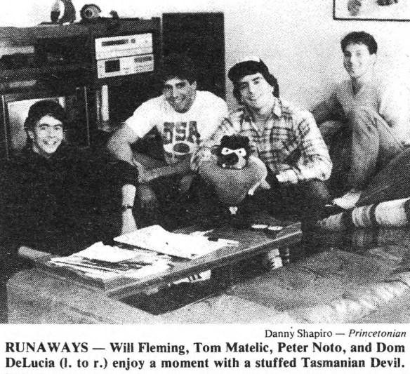 Photo of four roommates.