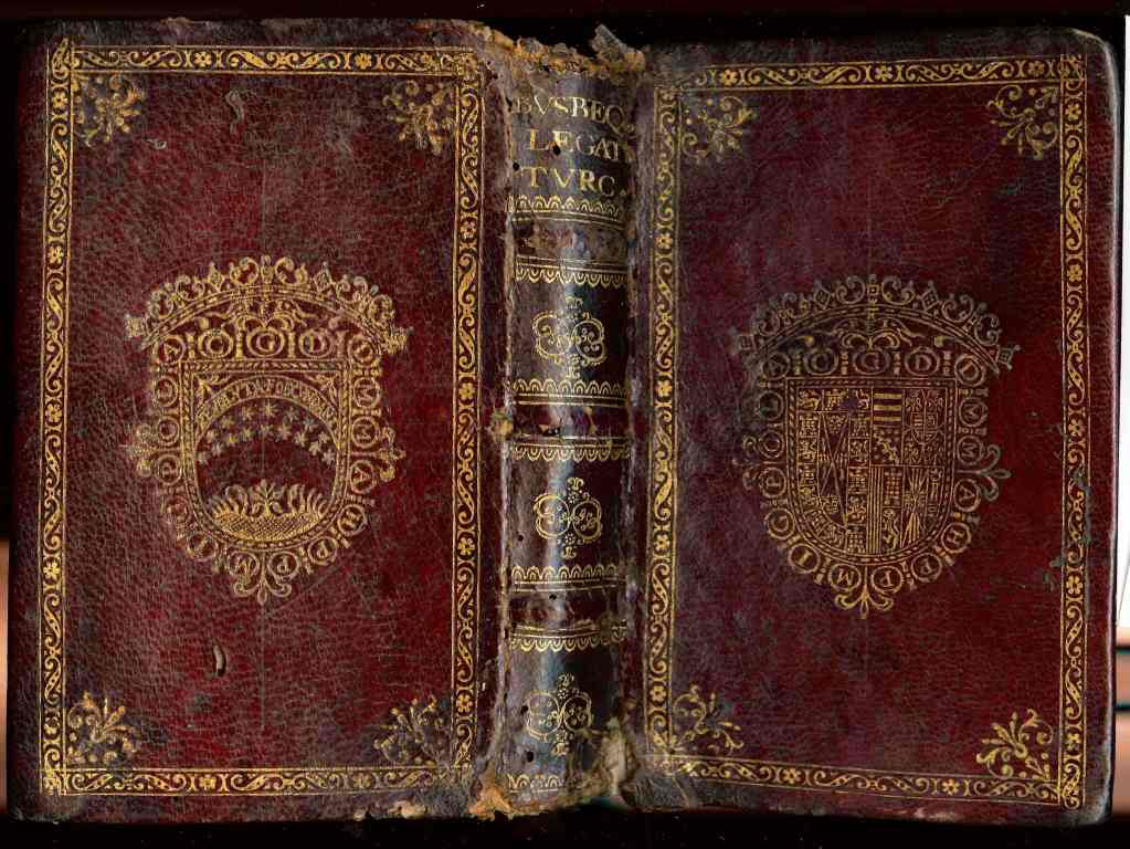17th century armorial binding and contemporary slip case
