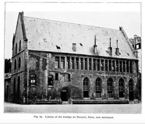 Library of the College de Navarre, Paris, in: J.W. Clark, The Care of Books (London, 1901) fig. 64